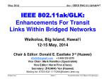 ieee 802 11ak glk enhancements for transit links within bridged networks