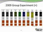 2009 group experiment