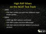 high rap mixes on the ncat test track