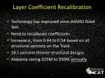 layer coefficient recalibration1