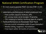 national wma certification program