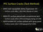 pfc surface cracks tack method1