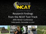 research findings from the ncat test track apai winter conference indianapolis december 14 2010