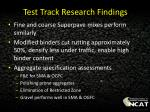 test track research findings