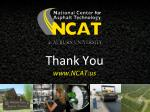thank you www ncat us