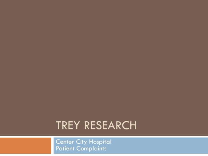 trey research n.