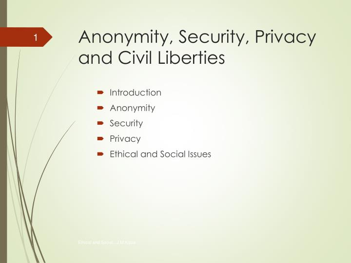 anonymity security privacy and civil liberties n.