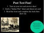 post test fun