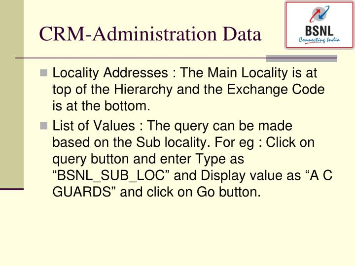 CRM-Administration Data