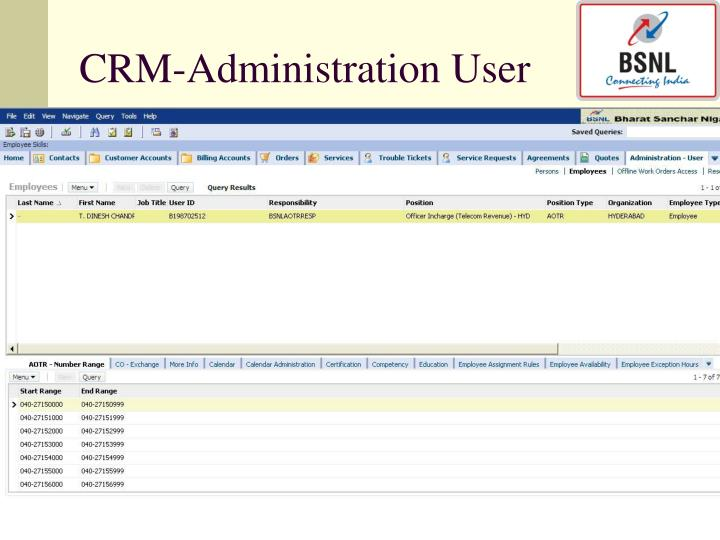 CRM-Administration User