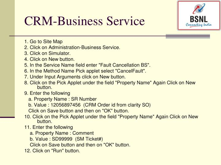 CRM-Business Service