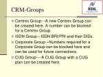 crm groups
