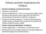 policies and their implications for children