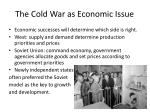 the cold war as economic issue