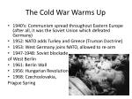the cold war warms up