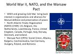 world war ii nato and the warsaw pact