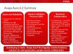 avaya aura 6 2 summary