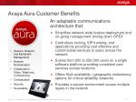avaya aura customer benefits