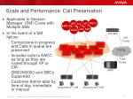 scale and performance call preservation