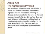 article xvii the righteous and wicked