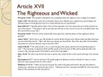 article xvii the righteous and wicked8