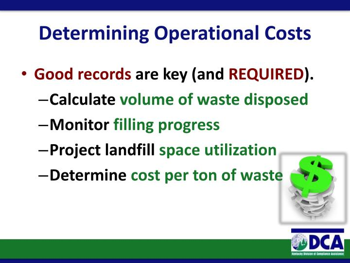 Determining Operational Costs