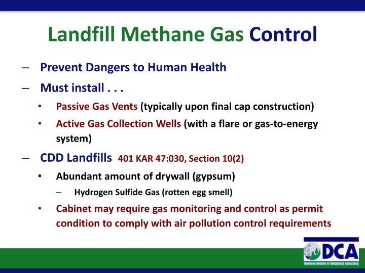 Landfill Methane Gas