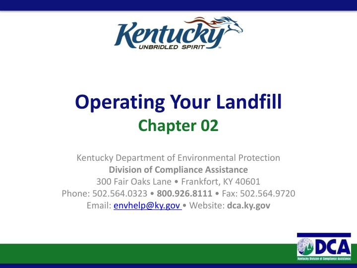 Operating Your Landfill