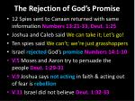 the rejection of god s promise