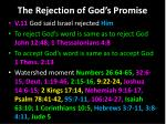 the rejection of god s promise1