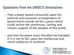 quotations from the unesco declarations