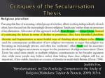 critiques of the secularisation thesis2
