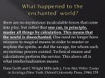 what happened to the enchanted world2