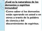 cu l es la naturaleza de los demonios o esp ritus inmundos