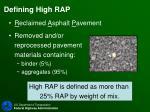 defining high rap