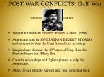 post war conflicts gulf war