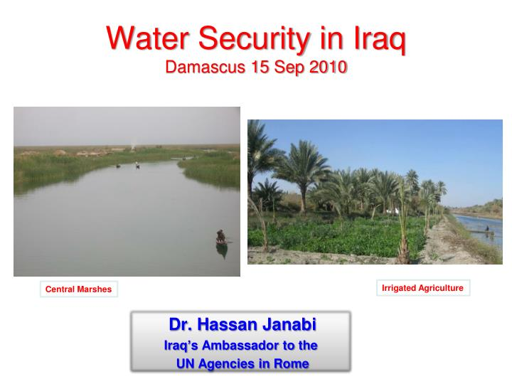 water security in iraq damascus 15 sep 2010 n.