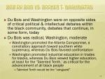 web du bois vs booker t washington