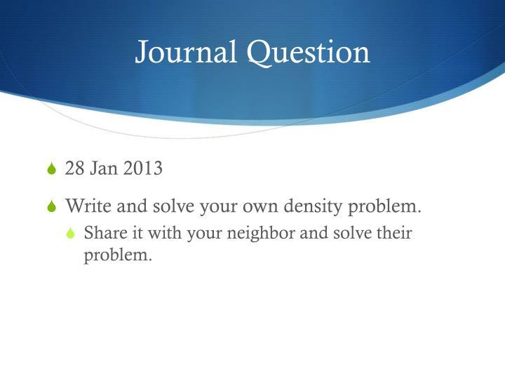 Journal Question
