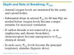 depth and rate of breathing p co23