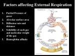 factors affecting external respiration