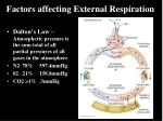 factors affecting external respiration1