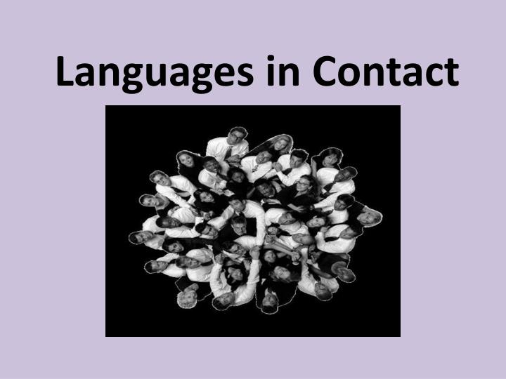 languages in contact n.
