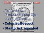 1 british parliament passes stamp act