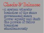 checks balances