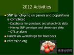 2012 activities