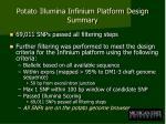 potato illumina infinium platform design summary