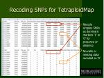 recoding snps for tetraploidmap
