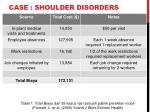 case shoulder disorders