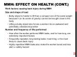 mmh effect on health cont1
